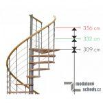 Modulove tocite schody Minka Venezia buk_samonosne schodiste_1
